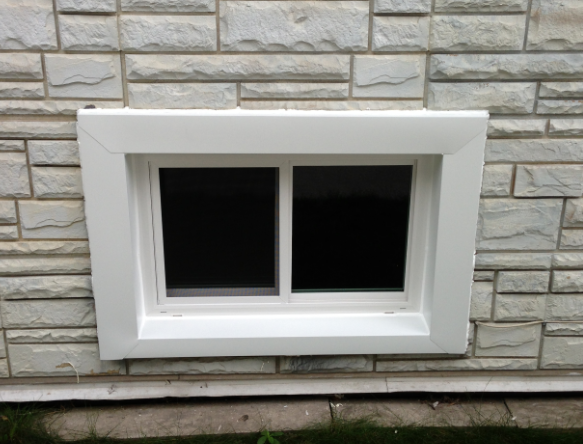 Basement windows installation plainfield il window for Basement windows